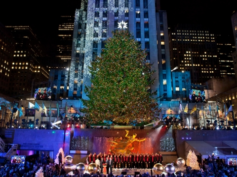 Rockefeller Center Christmas Tree Lighting Ceremony